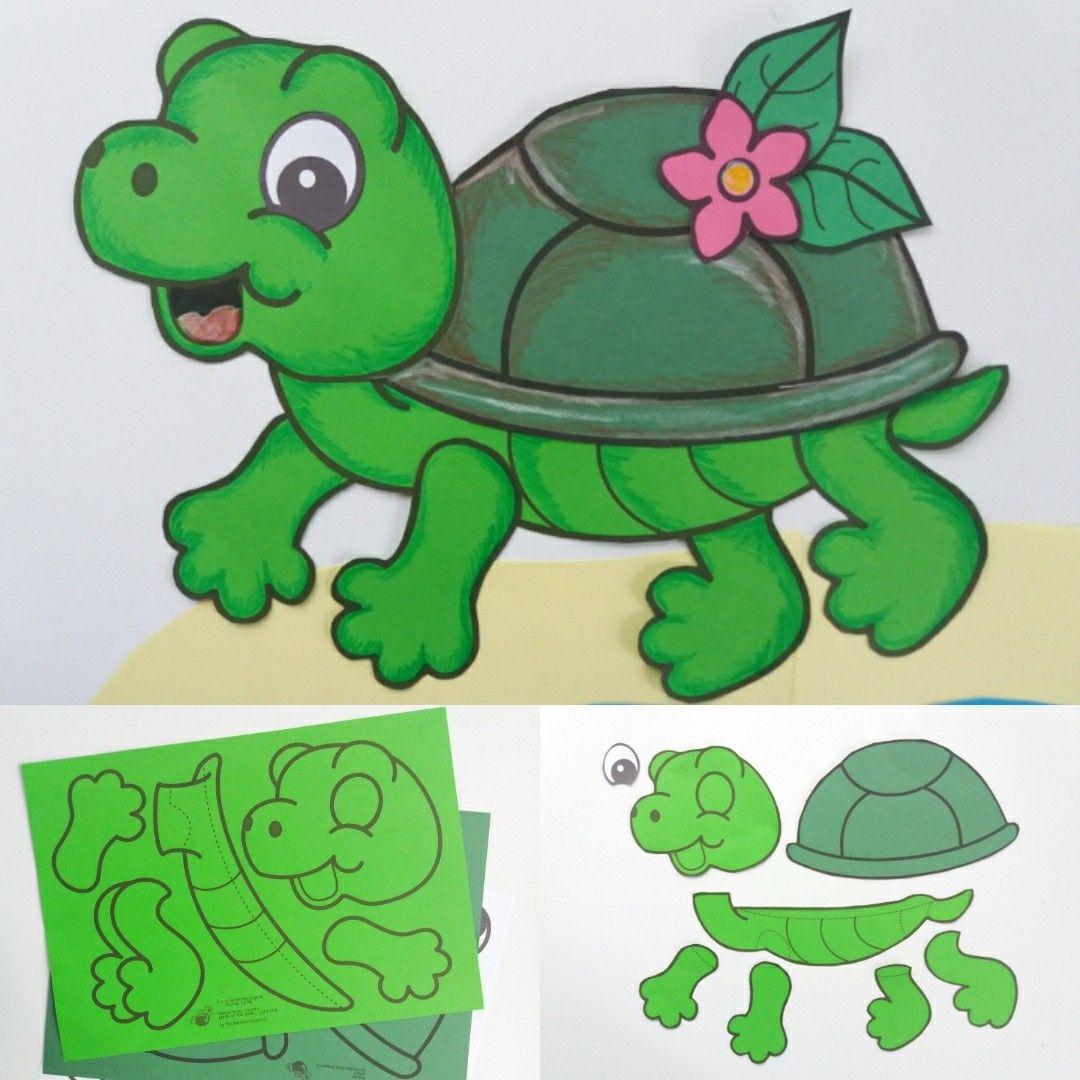 Schildkröten basteln Klima Bastelvorlage Meer Wasser ...