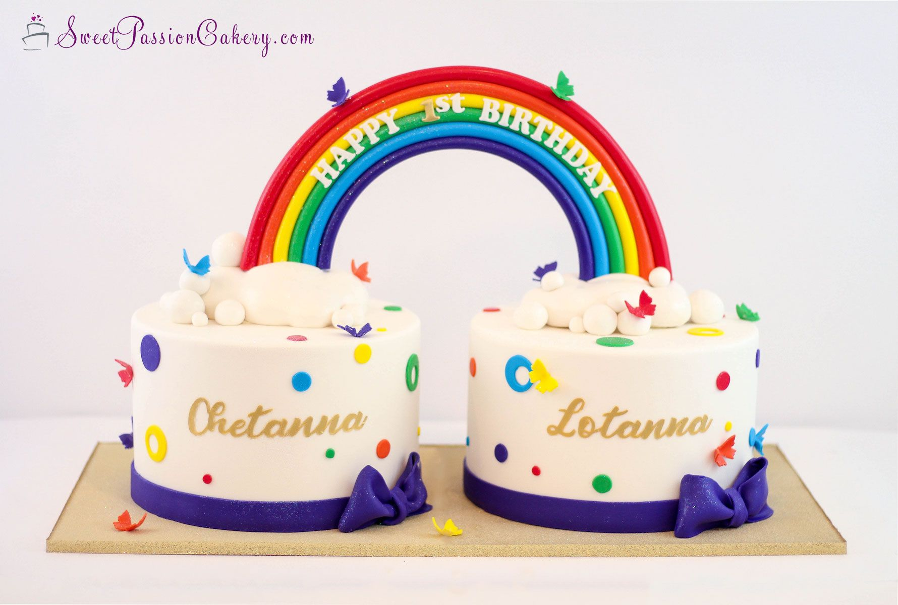 Fine Rainbow Cake Rainbowcake Butterflycake Sweetpassioncakery Personalised Birthday Cards Veneteletsinfo