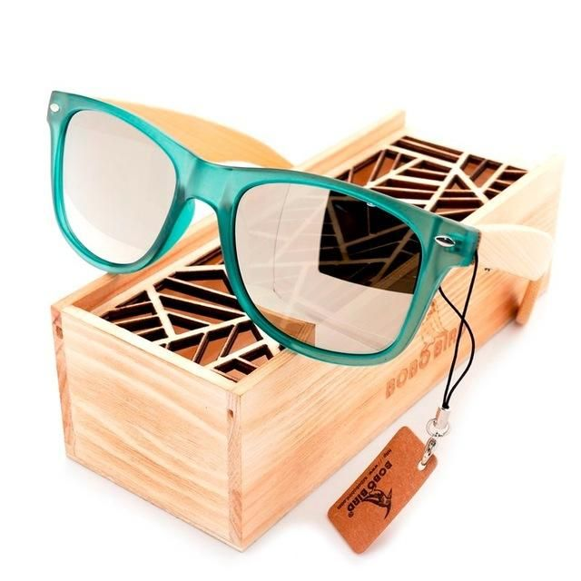 ce122b86f4 BOBO BIRD Luxury Polarized Sunglasses for Men and Women Bamboo Wood Holder  Sun Glasses With