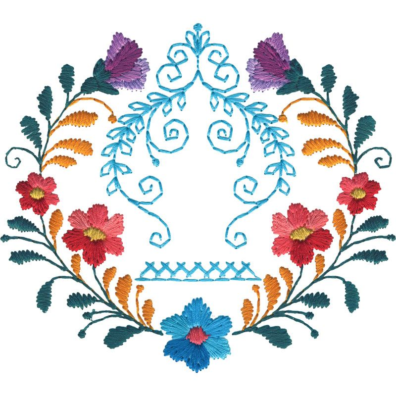Mexican flowers centerpiece many more in desgin pack