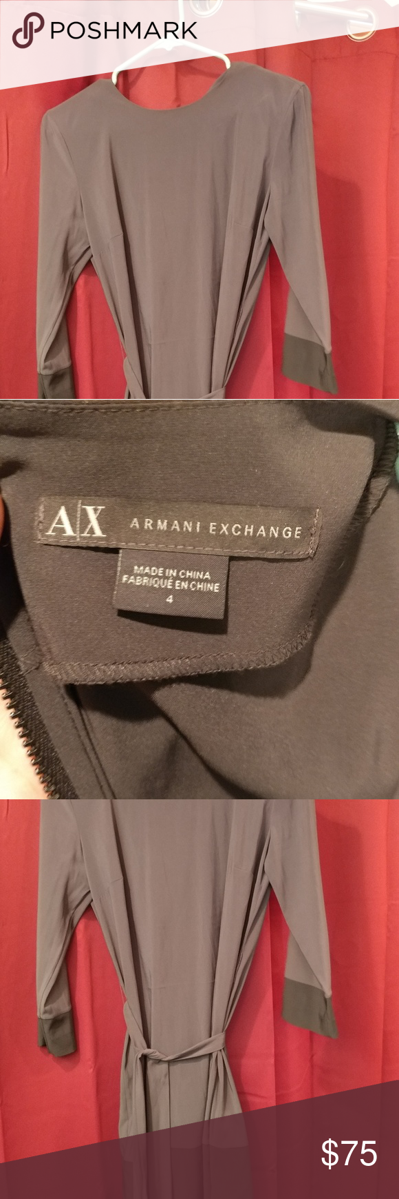 Armani exchange size 4 dress Beautiful love it.  I'm 5'7 and this dress comes just below the butt. Armani Exchange Dresses Mini