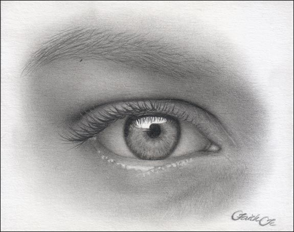 How+to+Draw+Eyelashes | Step 14: The lower eyelashes were drawn with the Faber-Castell 2B ...