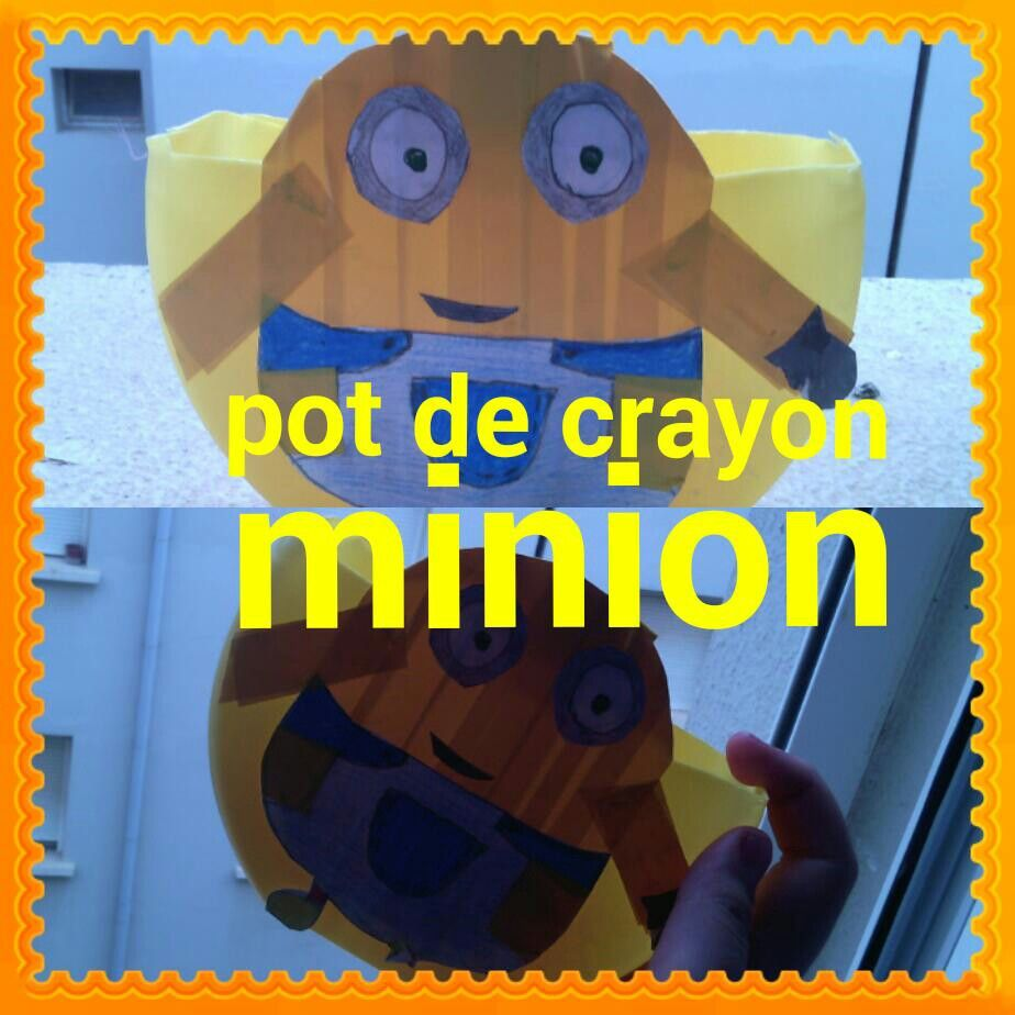 Un pot de crayon minion