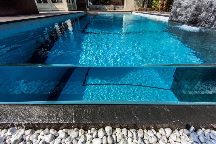 piscinas modernas paredes fibra vidrio Albercas Pinterest