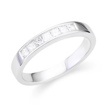 Princess Channel Wedding Band11901861Andrews Jewelers Buffalo