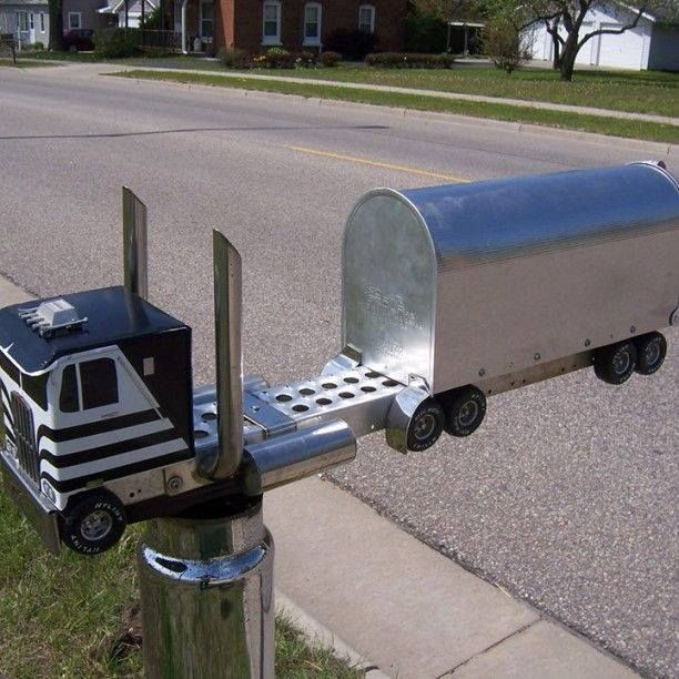 Motorcycle Parts In Germantown Mail: Wouldn't You Love To Have This Mailbox? #Truckers