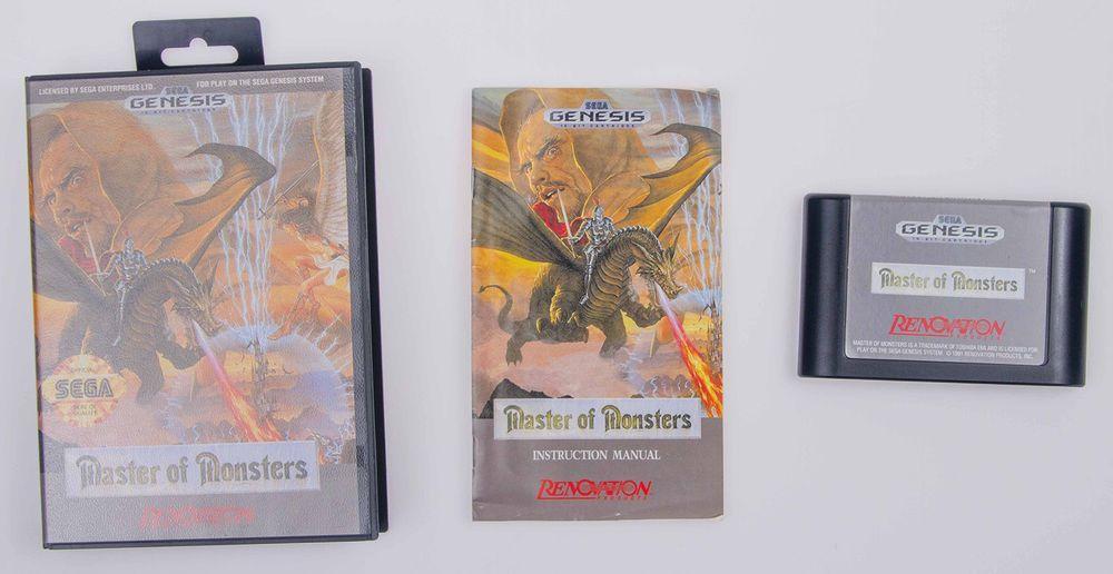 Master of Monsters (Sega Genesis, 1991) Complete CIB Cleaned
