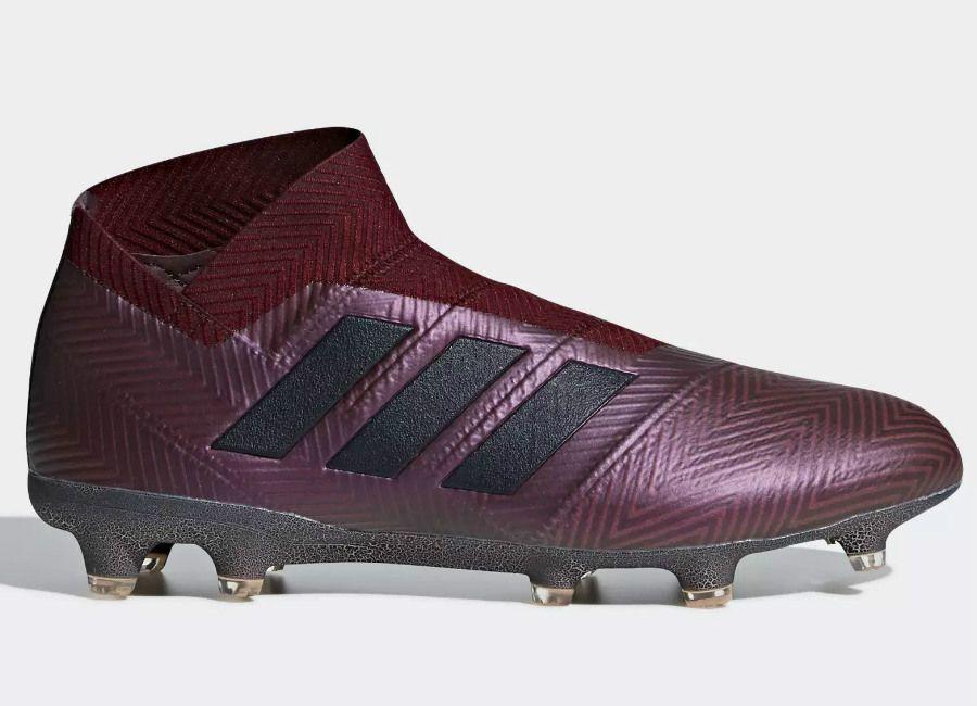 48da9071019b0 #adidasfootball #footballboots Adidas Nemeziz 18+ FG Cold Mode - Collegiate  Burgundy / Legend Ink / Maroon