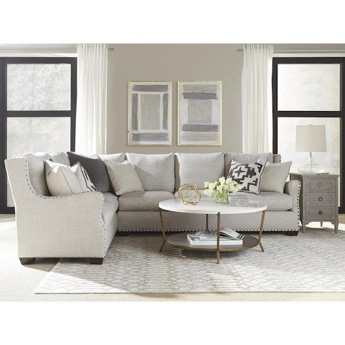 Universal Connor Traditional Sectional Sofa with Nail Head Trim  sc 1 st  Pinterest : sectional sofa with nailhead trim - Sectionals, Sofas & Couches