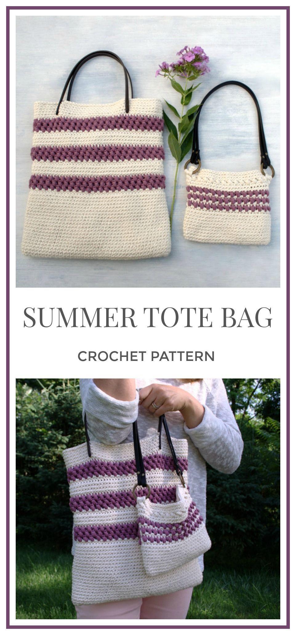 Bag Pattern Crochet Tote Bag Pattern DIY Gift for Girl