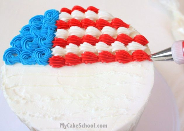 Fourth Of July Cake Cupcake Ideas Blog Tutorial With Images