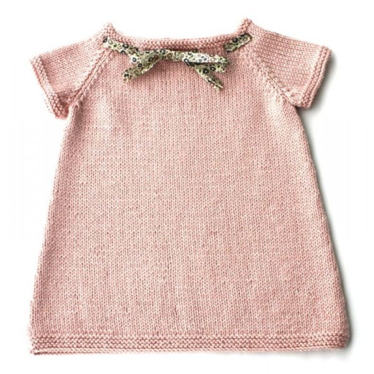 tuto tricot robe bebe facile