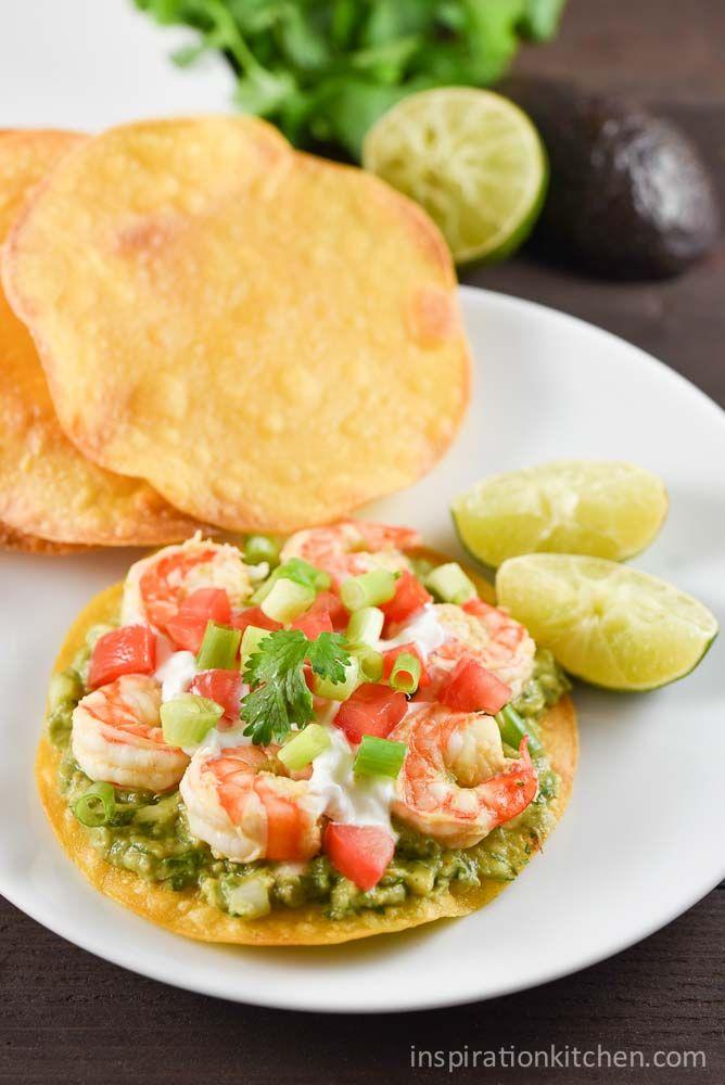 shrimp avocado tostadas rezept best comfort foods pinterest salat essen und rezepte. Black Bedroom Furniture Sets. Home Design Ideas