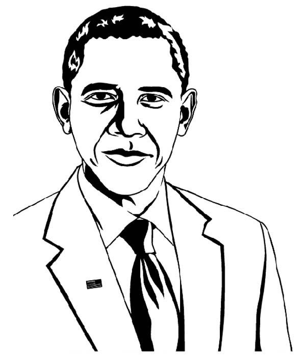 Obama Coloring Page | COLORING PAGES FOR FREE | Pinterest