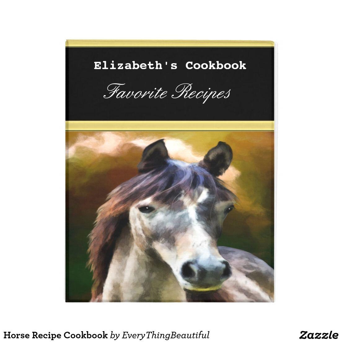 Horse Recipe Cookbook Mini Binder