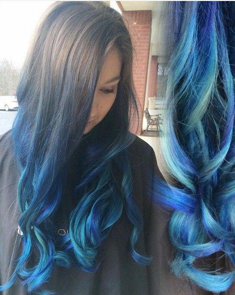 #Neu Haar Modelle Frisuren 2018 18 Schöne Blaue Ombre Farben Und Stile  #medium #