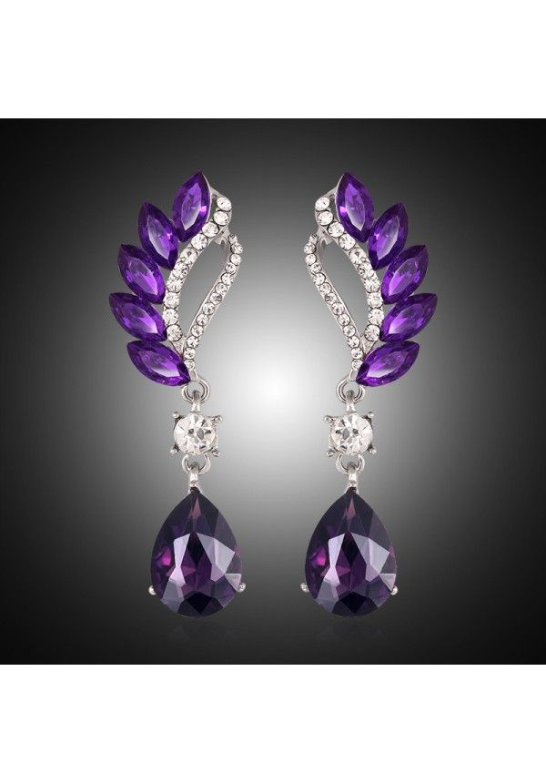4db399c631a Hermosos Pendientes largos para mujer de colores cristal gota pendientes  vintage