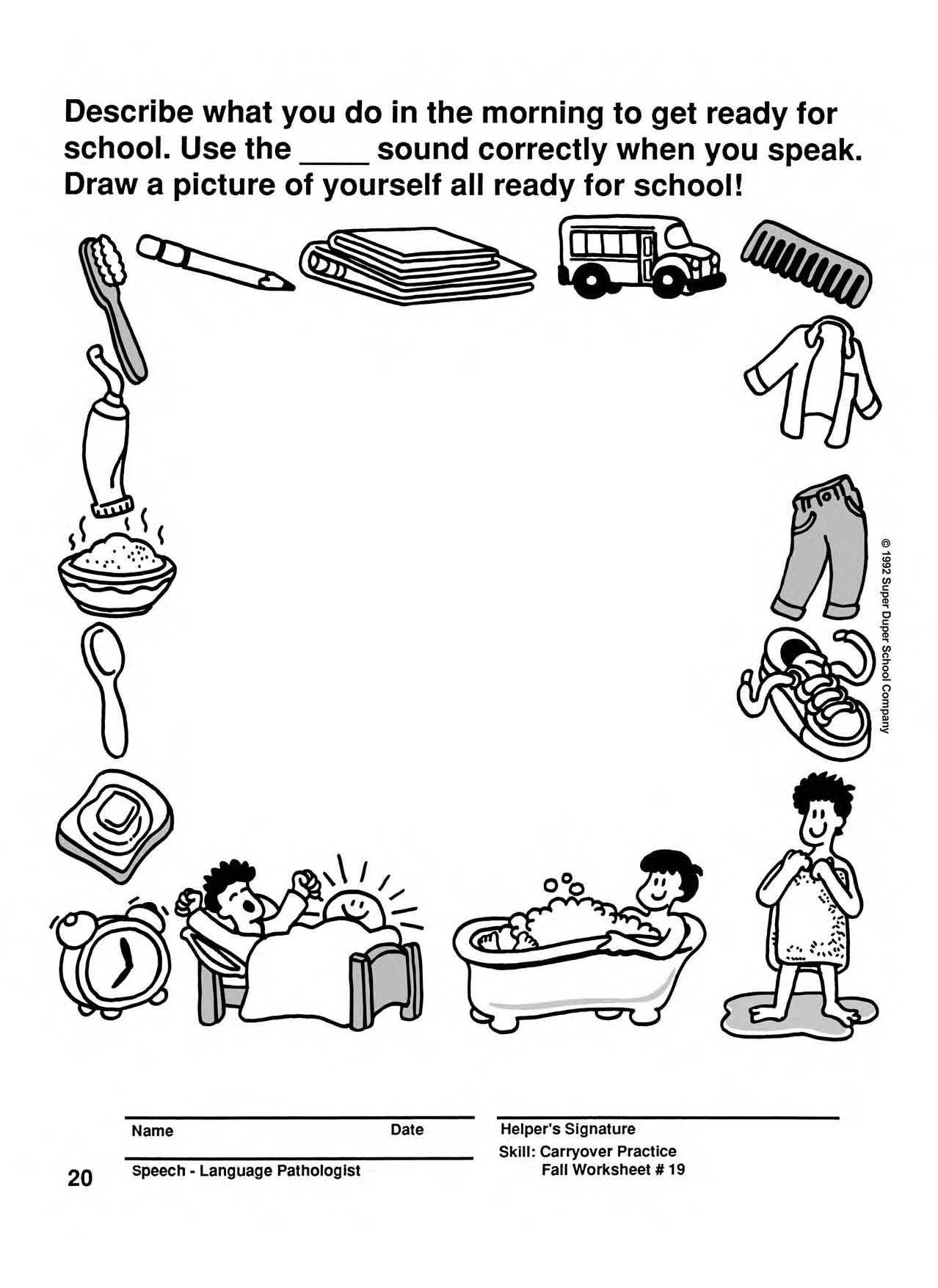 Carryover Practice Fun Sheet