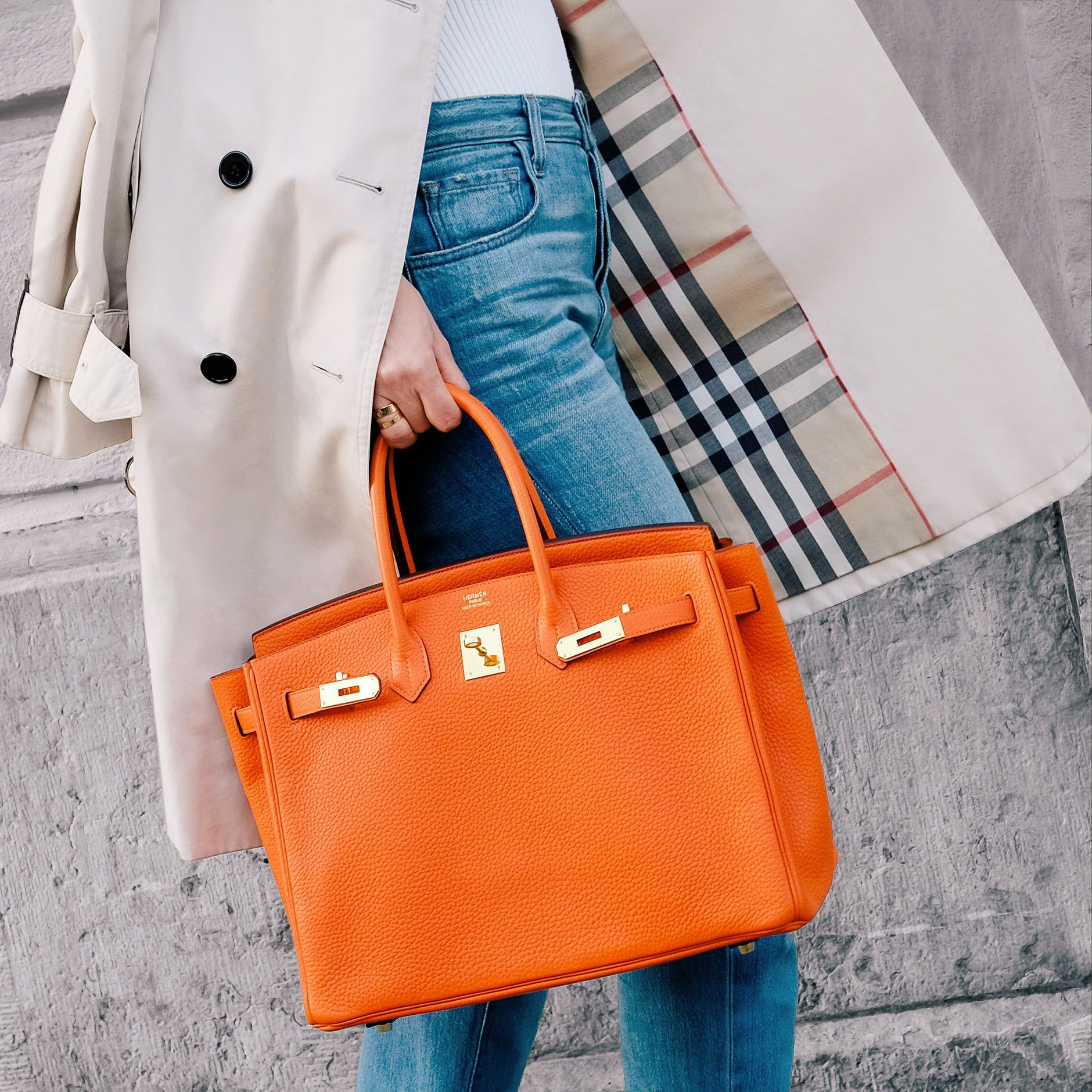 ac546c3c9e Hermès orange Birkin bag (size 35