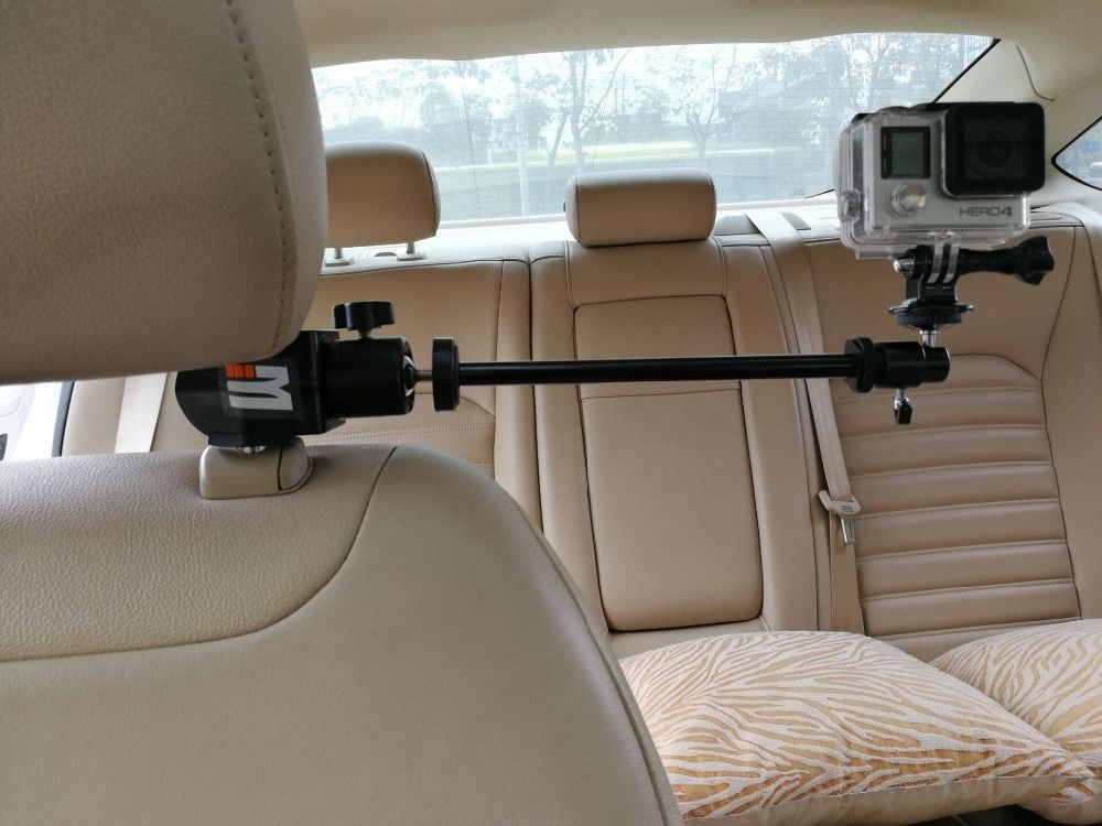 Car Headrest Clamp Mount + Tripod Adapter for GoPro Video Camera, Camcorders, DV, Smartphones SJCAM 456000 Xiaomi yi Accessories  Price: $ 37.99 & FREE Shipping   #rc #security #toys #bargain #coolstuff #headphones #bluetooth #gifts #xmas #happybirthday #fun