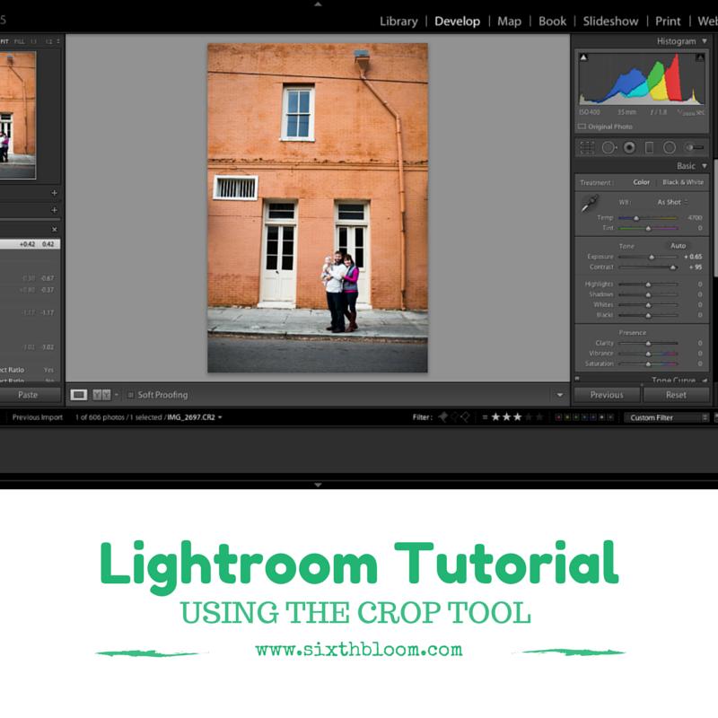 How to crop on lightroom