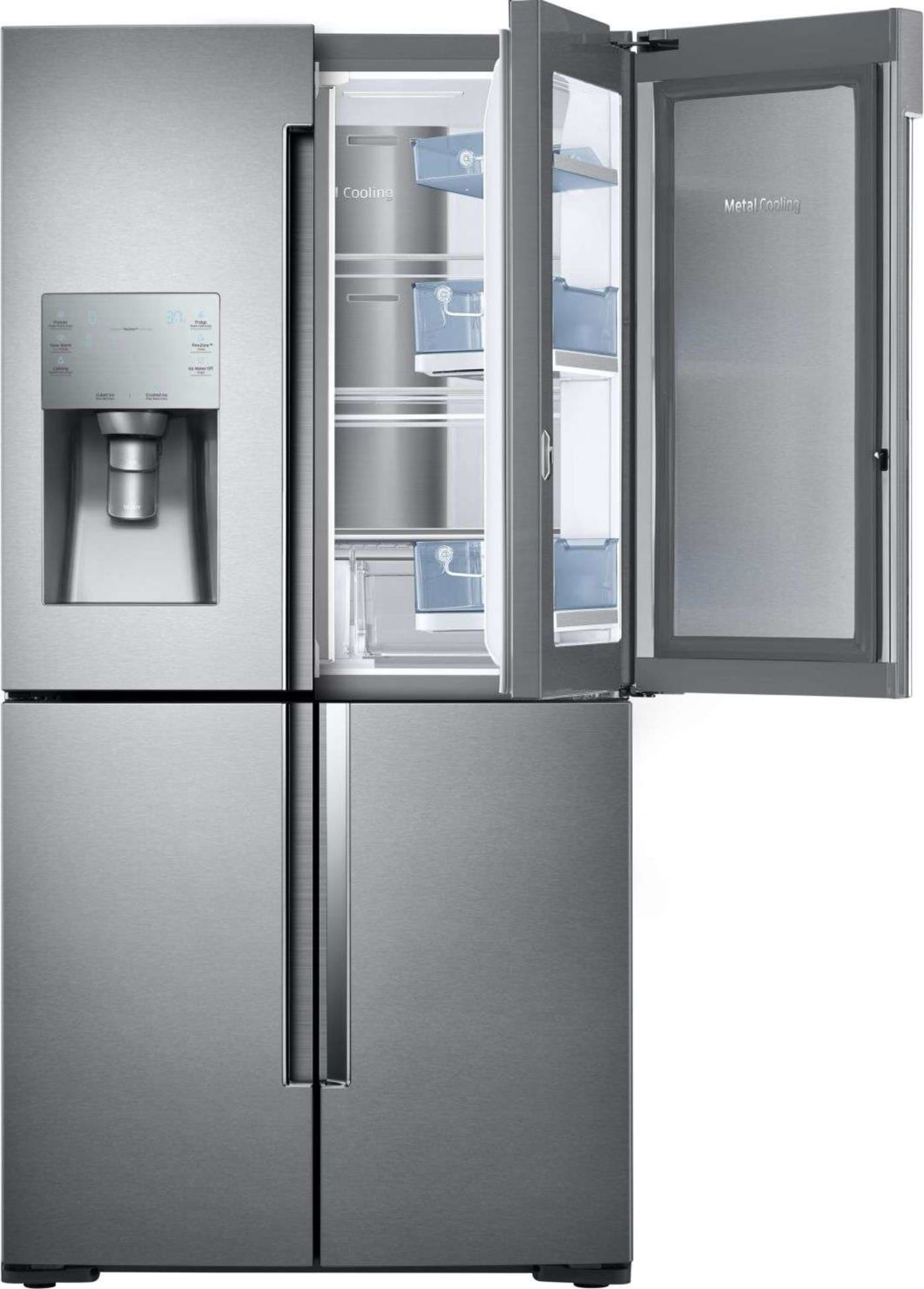 Rf28k9380sr By Samsung French Door Refrigerators Goedekers Com