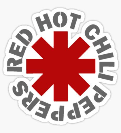 Red Hot Chili Peppers 2 full colour band logo Vinyl Sticker Decal