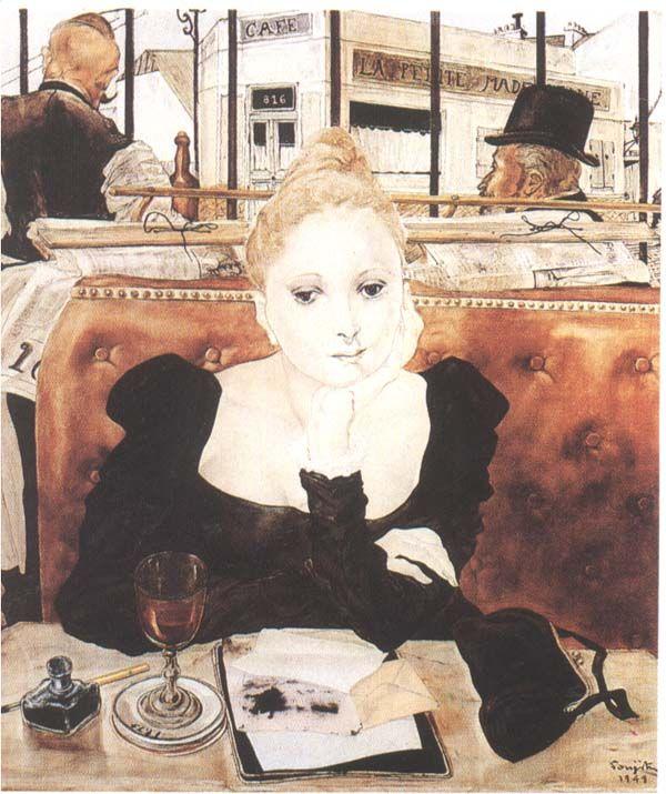 Tsuguharu Foujita 1886 1962 アートのアイデア 美術工芸品 絵画