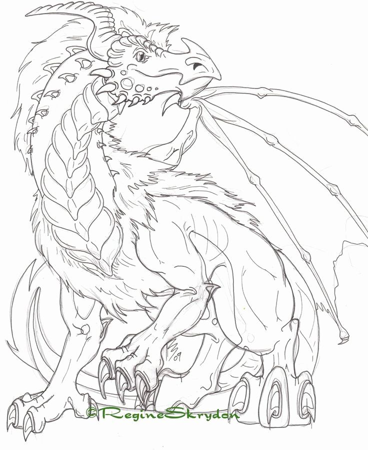 Hard Dragon Coloring Pages For Kids Detailed Coloring Pages Dragon Coloring Page Coloring Pages