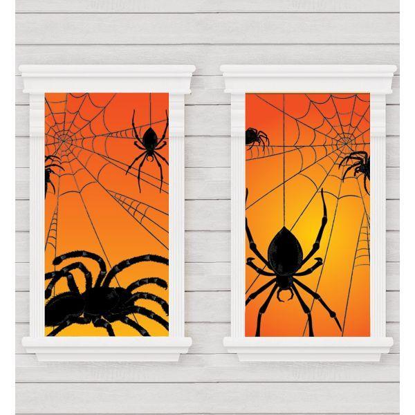 Spider Window Decorations 2ct Halloween Pinterest Spider - halloween window decorations