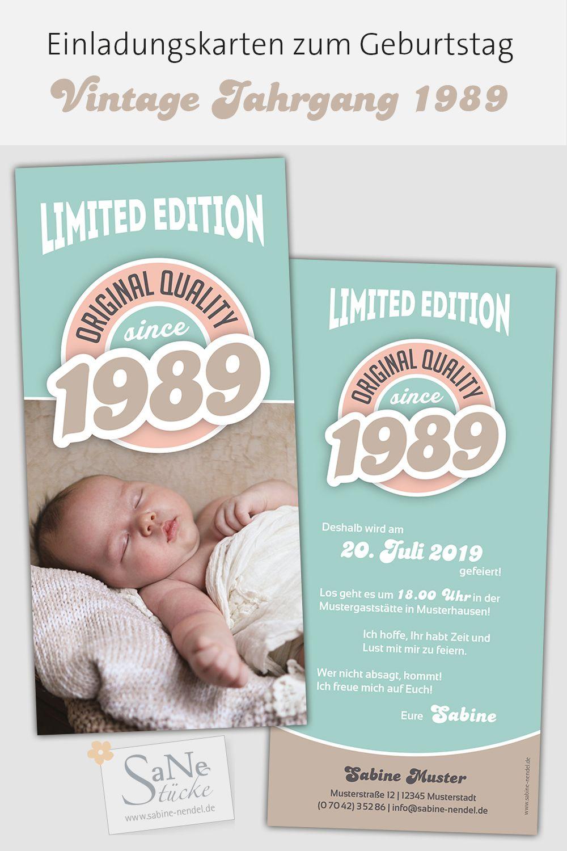 Vintage Jahrgang Einladung 30 Geburtstag 30ter Geburtstag