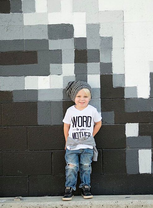 Word to Your Mother Kid's Graphic T-Shirt