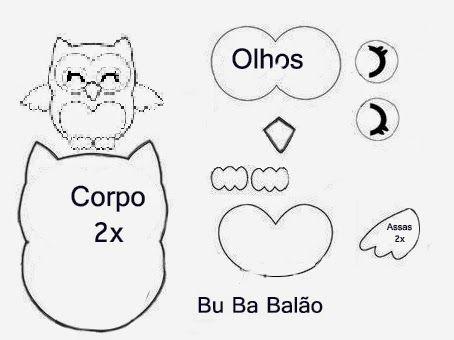 Bu Ba : Molde de Coruja com PAP e vídeo