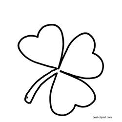 Black And White Shamrock Outline Clipart Clip Art St Patricks Day St Patricks Day Hat