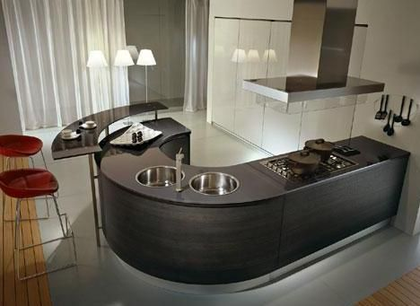 I Really Liked This Curvilinear J Shaped Island Kitchen I Also Love