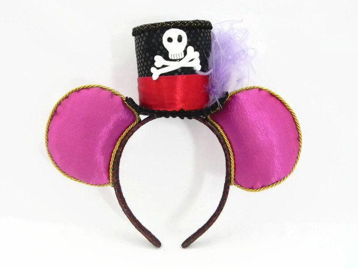 Dr Facilier Minnie Mouse Ears Headband Purple Fabric Black Top Hat    Feather Villain Ears Princess and the Frog Magic Kingdom Disney Epcot dc8a57279979