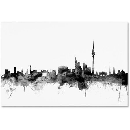 Trademark Fine Art Berlin Germany Skyline B W Canvas Art By Michael Tompsett Walmart Com In 2020 Trademark Fine Art Canvas Art Skyline