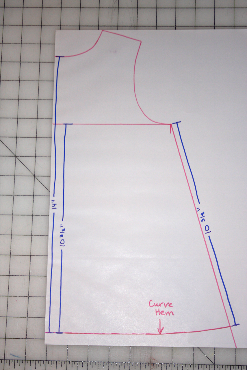 Climbing the Willow: tutorial: how to draft an a-line pattern ...