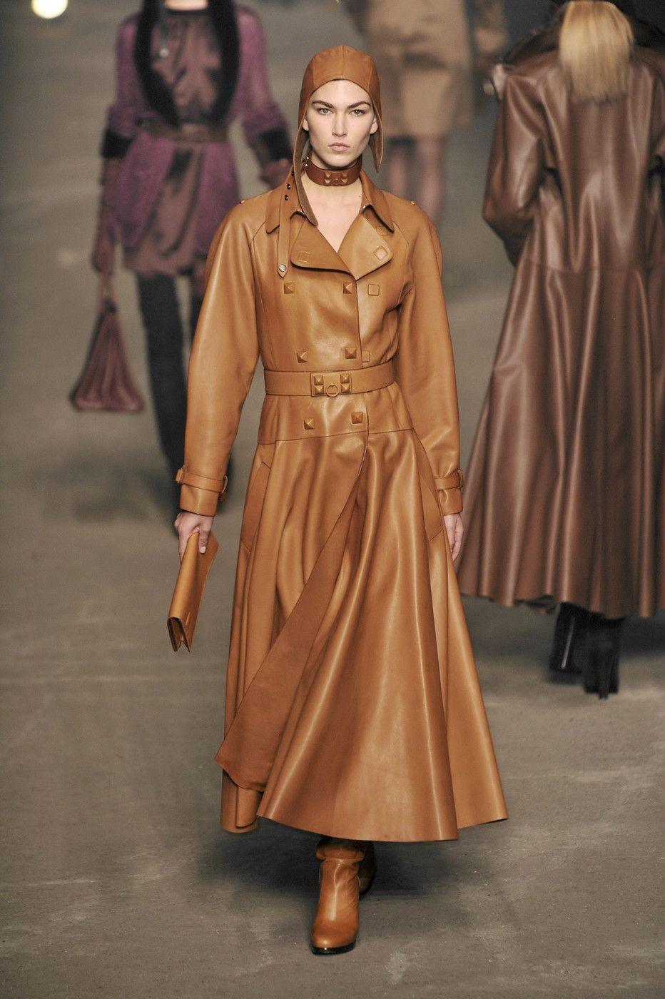 Hermès at paris fashion week fall fashion weeks long leather