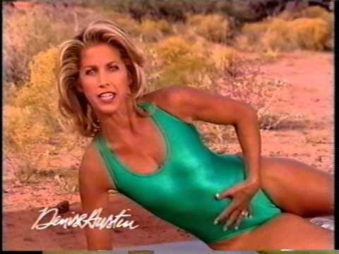 Denise austin white bikini top sexy milf