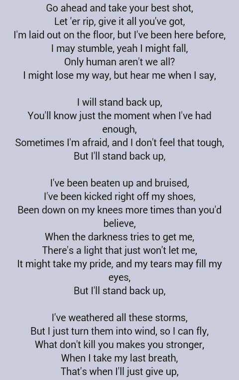 Sugarland Stand Back Up Lyrics Song Lyrics Inspire Me