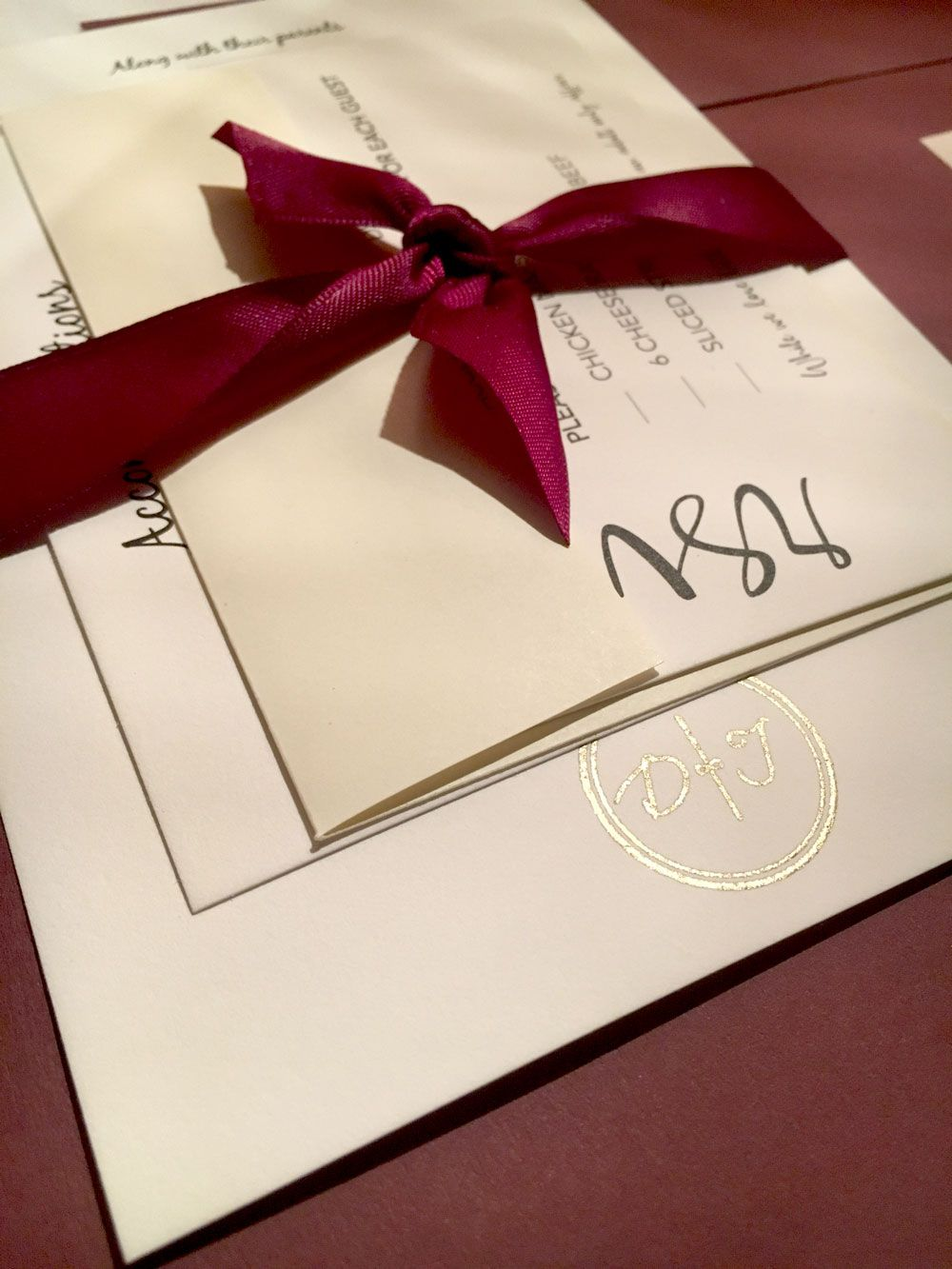 A fancy gold foil monogram stamp adds a beautiful touch to any ...