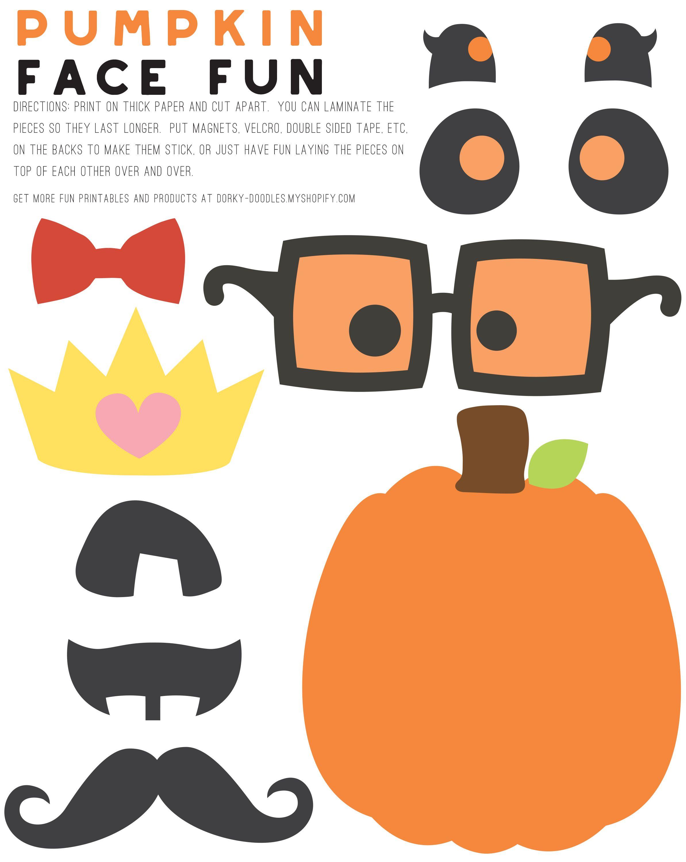 Decorate A Pumpkin Face Printable
