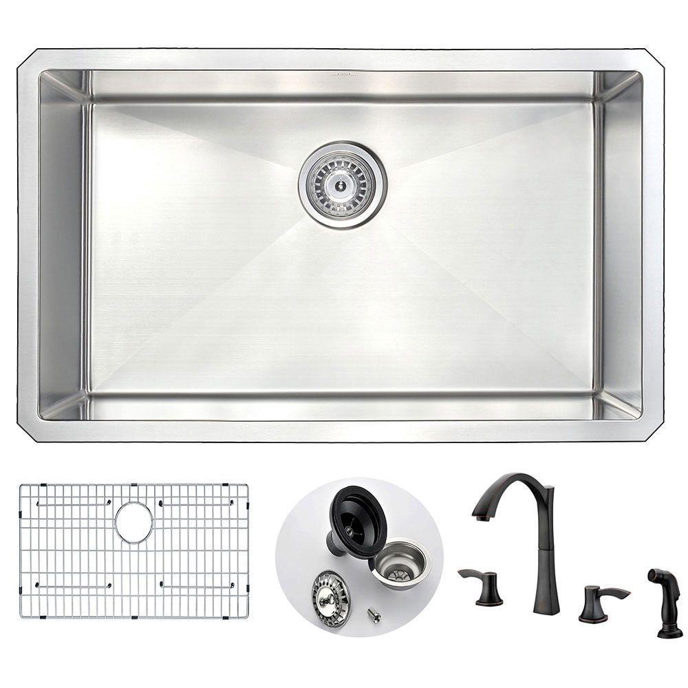 ANZZI VANGUARD Series KAZ3018-032O Kitchen Sink