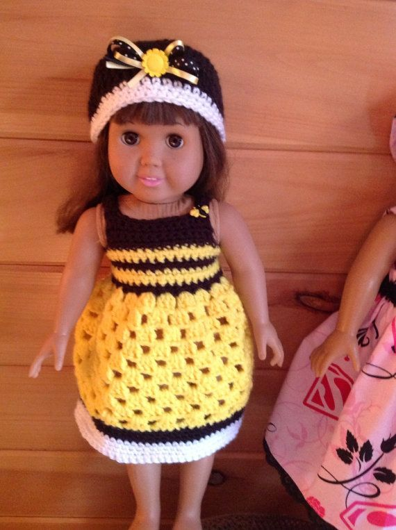 Crochet sundress and hat for 18 inch doll | american girl sewing and ...