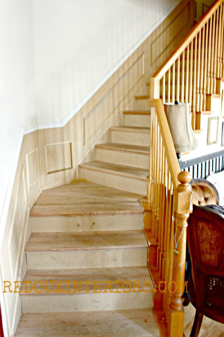 Best Diy Black And White Staircase With Images White 400 x 300