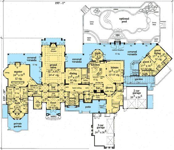 Italian Renaissance Inspired Luxury Home Plan Luxury House Plans House Plans Dream House Plans
