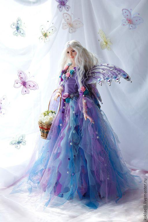 Купить Кукла Фея бабочек - сиреневый, волшебница, фея, кукла, фея бабочек, бабочка