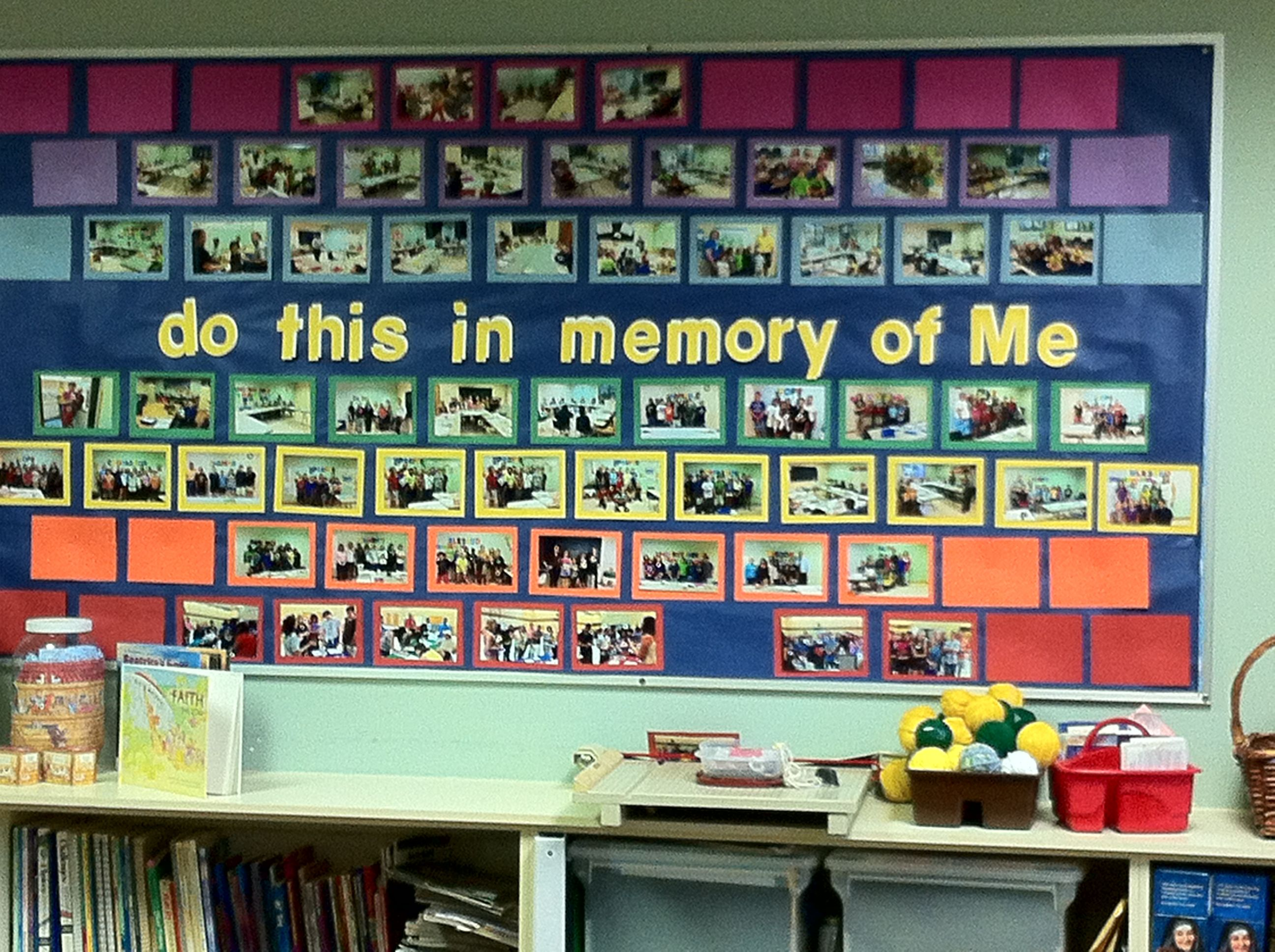 This is the fall bulletin board in our Teacher Resource Room at St ...