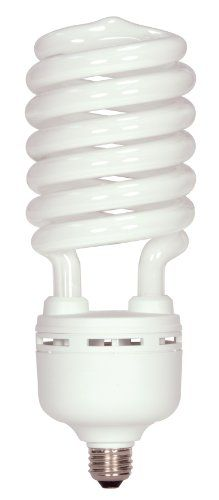 Satco S7377 105 Watt 400 Watt 7000 Lumens Hi Pro Spiral Cfl Daylight White 5000k Medium Ba Fluorescent Light Bulb Fluorescent Bulb Compact Fluorescent Bulbs